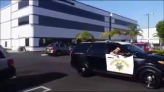 President Donald Trump Motorcade waving with heavy security