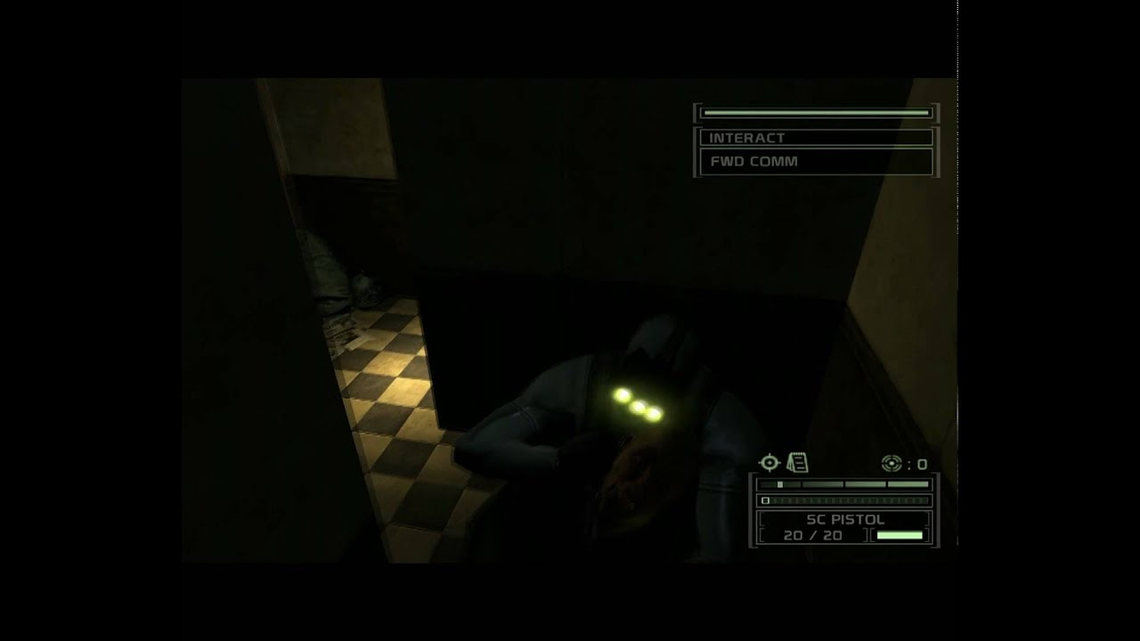 Splinter Cell Chaos Theory Sam Fisher Pulling A Prank On A Guard