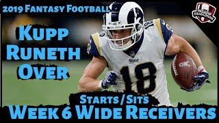2019 Fantasy Football Advice - Week 6 Wide Receivers - Start or Sit? Every Match Up