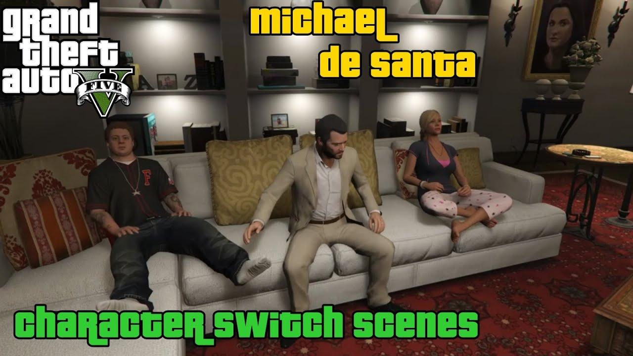 GTA 5 ★ Character Switch Scenes ★ Michael De Santa [ PS4 ]