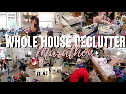 Getting rid of so much stuff | Declutter marathon | Time lapse cleaning - Cleaning with Karrie
