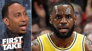 Stephen A.: LeBron James 'showed out' in Lakers debut but 'expected more' in 2nd half | First Take