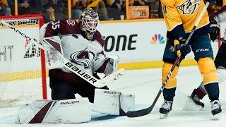 Hammond steals game for Avalanche with 44 saves