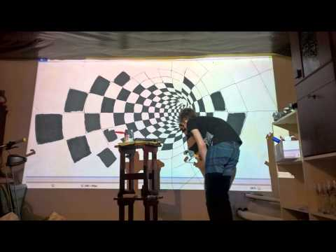 Using an overhead projector to paint a wall graphic for Best projector for mural painting