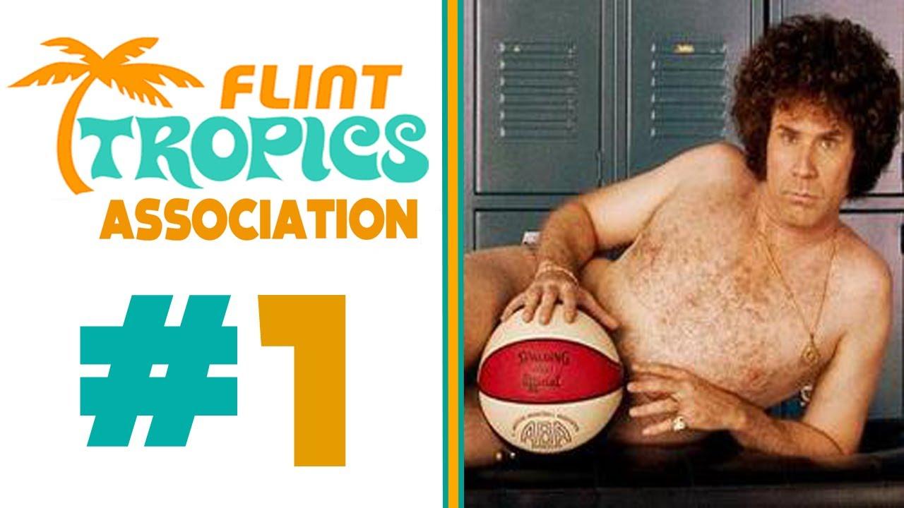 Flint Tropics #69 Downtown White Semi-Pro Movie Stitched ...