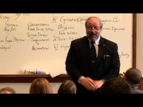 Mock Law Class - Prof. J. Dean Carro - March 2014