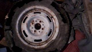 Прикол с колесом Daewoo Nexia