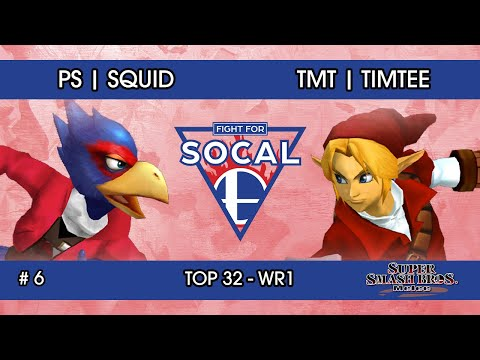 Fight For SoCal 6 - Squid (Falco) VS Timtee (Link) - SSBM - Top 32 (Winners Round 1)