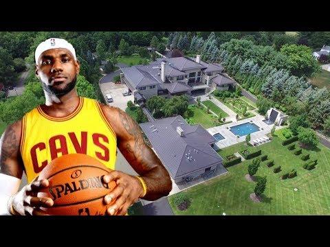 Lebron James' House.  Akron, Ohio. Cleveland Cavaliers 2017