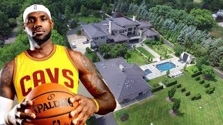 Lebron James' House.  Akron, Ohio. Cleveland Cavaliers 2017