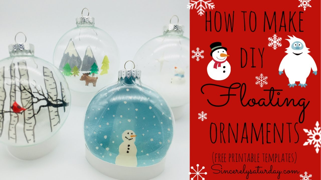 how to make diy floating ornaments easy holiday craft youtube