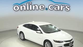 C10752TA Used 2018 Chevrolet Malibu LT FWD 4D Sedan White Test Drive, Review, For Sale