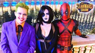 The JOKER vs DEADPOOL in LAS VEGAS! Superheroes in Real Life | The Sean Ward Show