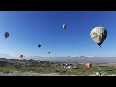 Pamukkale'de Balon Gezisi |Paseo por el Globo en Pamukkale #travelguide #Viaje