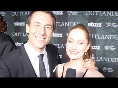 Tobias Menzies & Lotte Verbeek   Outlander Starz