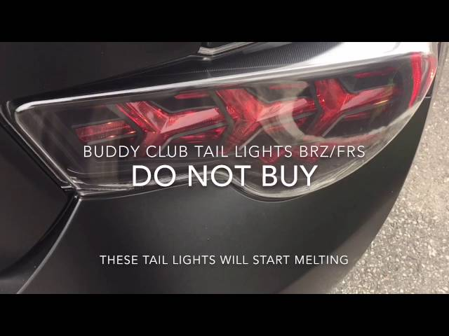 BuddyClub Tail lights Melting