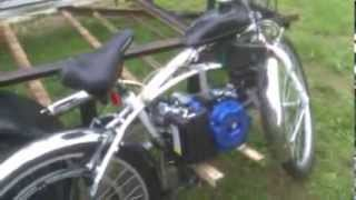 Homemade Motorized Bicycle - Belt Drive - Harbor Freight 2 5hp Greyhound
