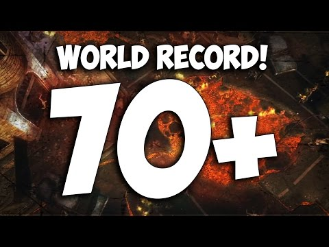 """TOWN"" NO REVIVE WORLD RECORD! ~ ROUND 71 CHOKE.. (Black Ops 2 Zombies)"