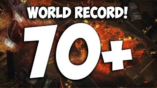 """""""TOWN"""" NO REVIVE WORLD RECORD! ~ ROUND 70+ (Black Ops 2 Zombies)"""