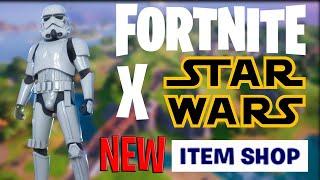NEW Fortnite x Star Wars Item Shop - Imperial Stormtrooper Skin Gameplay - Star Wars Mini Event NOW