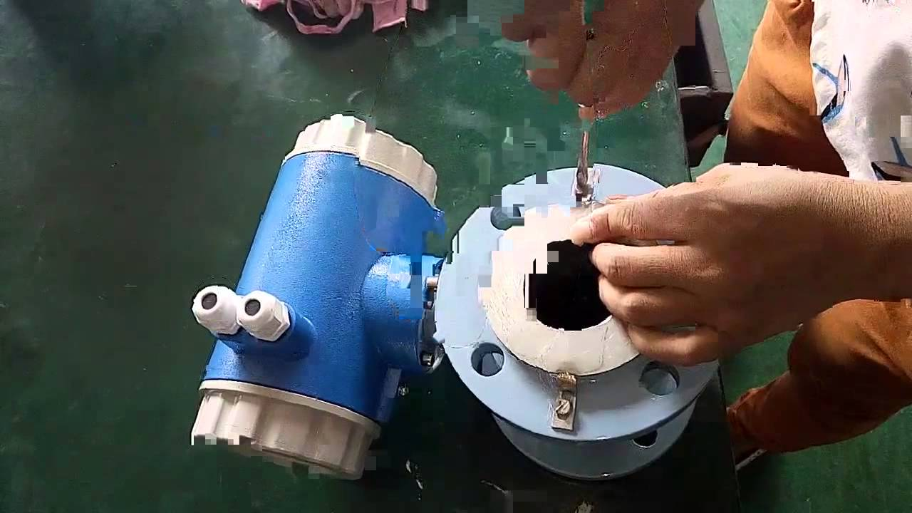 Magnetic flow meter ground ring installation - YouTube on