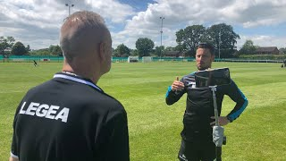 Anthony Limbrick post-match, as TNS play Ellesmere Rangers in a pre-season friendly