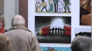 ''Ich bin Charlie' '' Cartoon Festival, Drammen, Norwegen, 27 Feb. 2015