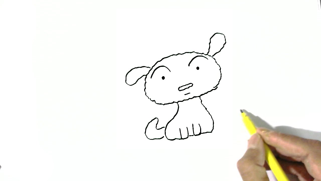 how to draw a dog in easy steps