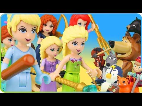 ♥ LEGO Disney Princess VS Masha and the Bear (Dress Up, Adventures, Life Story...)