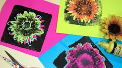 Andy Warhol Inspired Flower Prints