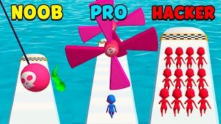 NOOB vs PRO vs HACKER - Fun Race 3D screenshot 5