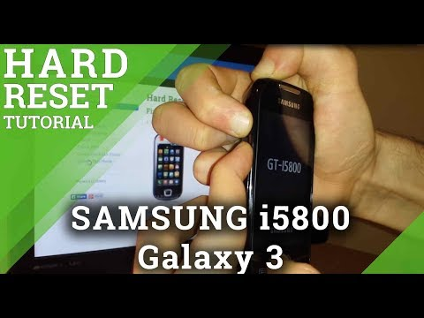 Hard Reset SAMSUNG i5800 Galaxy 3 -how to do a wipe data/factory reset