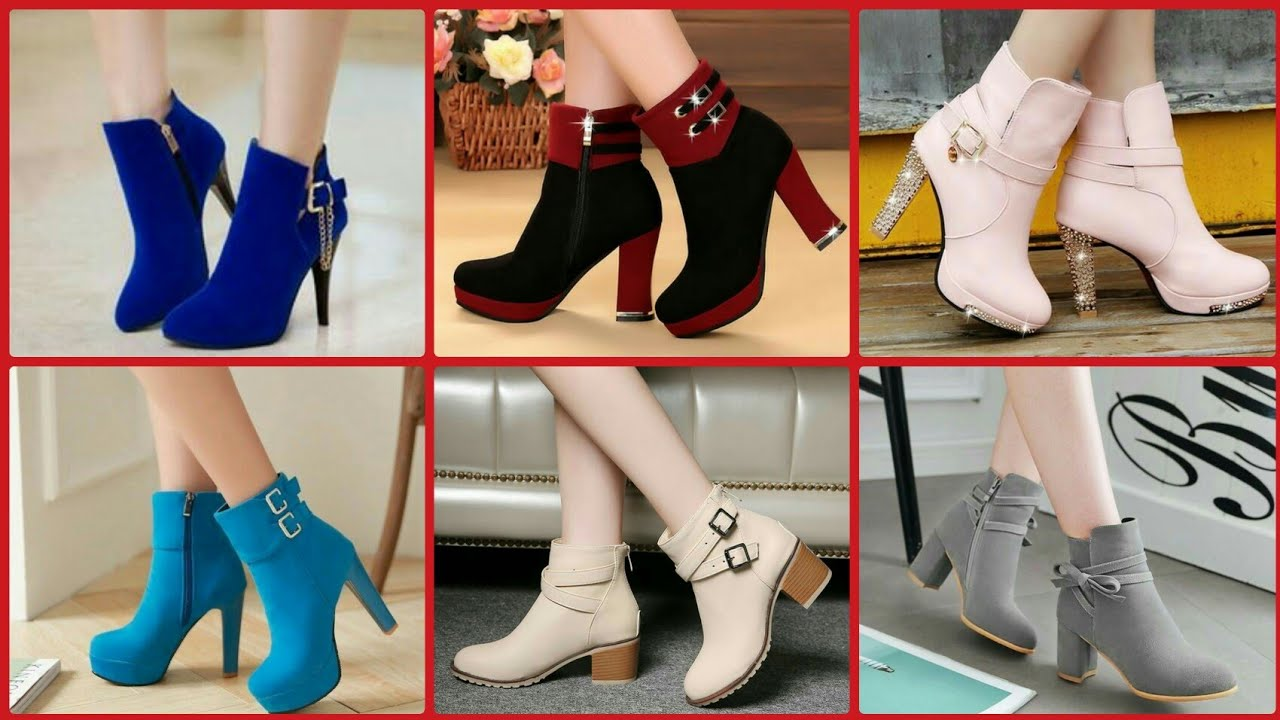 [VIDEO] - 50+Stunning Autum and winter woman shoes vintage  solid colour high heel ankle boots collection 2020 5