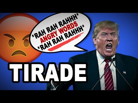 😤 Learn English Words - TIRADE - Meaning, Vocabulary Lesson with Pictures and Examples