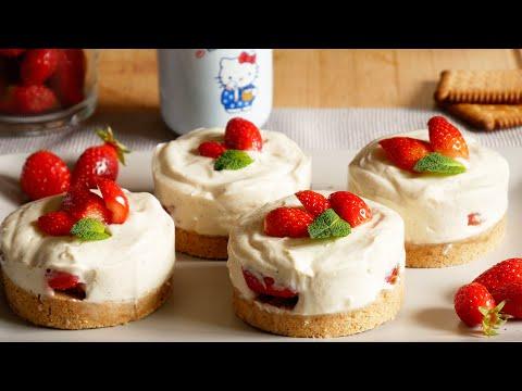 cheesecake-aux-fraises-sans-cuisson-🍓