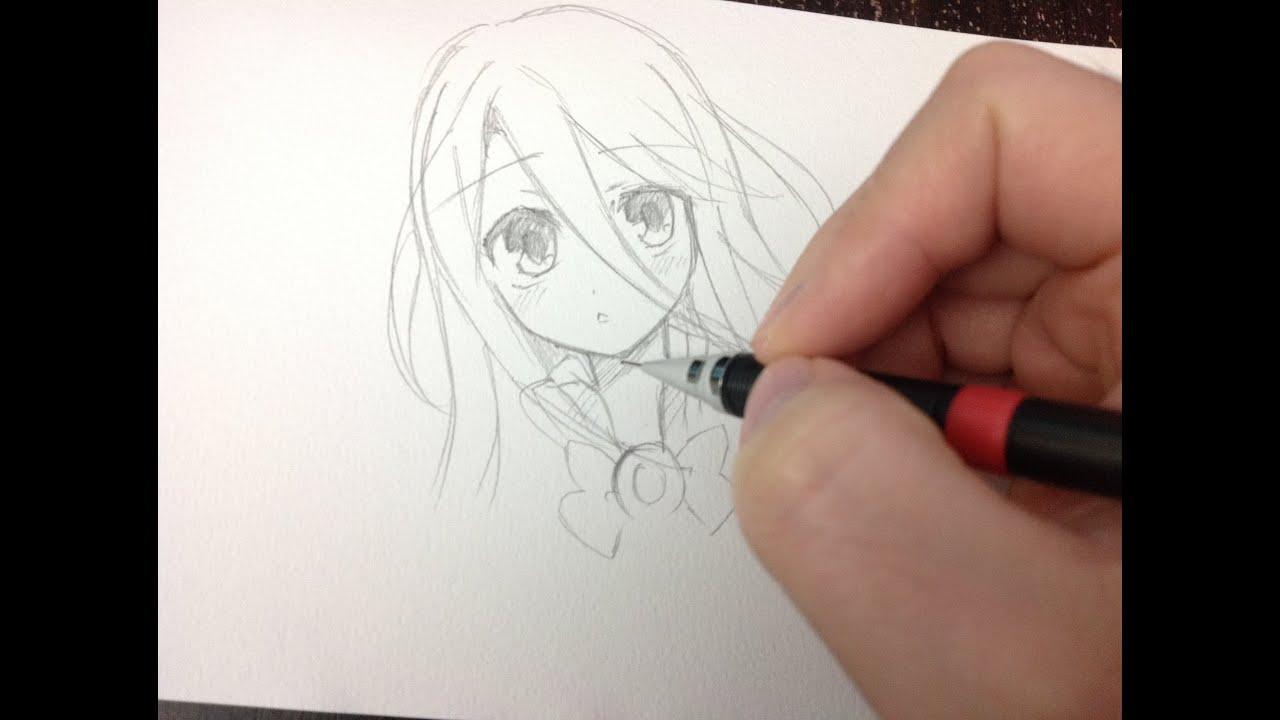 drawing shiro no game no life real time drawing youtube