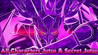 Naruto to Boruto Shinobi Striker - All Characters Jutsus & Secret Jutsus (Full Roster)