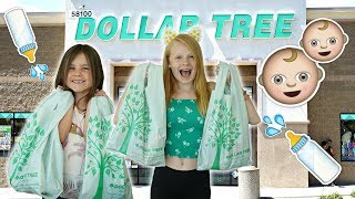 KiDS DOLLAR TREE BABY SHOPPiNG CHALLENGE!