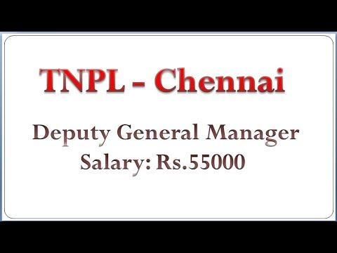 TNPL Deputy General Manager Post at Chennai
