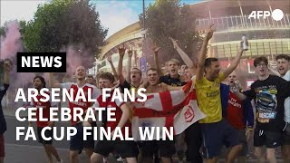 Arsenal fans celebrate win against Chelsea in FA Cup final | AFP
