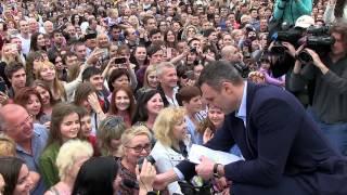 видео Кличко на Софийской площади поздравил киевлян с Новым годом