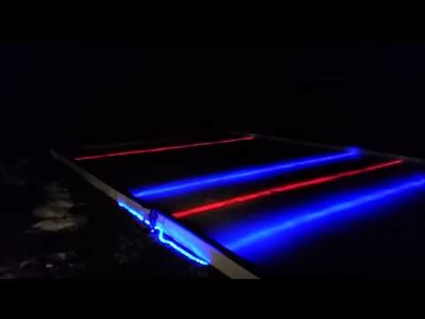 backyard ice rink daytime and nightime with led lights ...