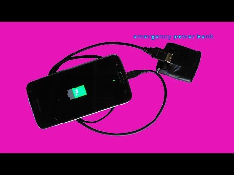 Haw To Make  Power Bank Emergency Mobile Charger At Home
