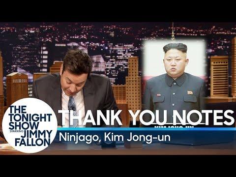 Thank You Notes: Ninjago, Kim Jong-un