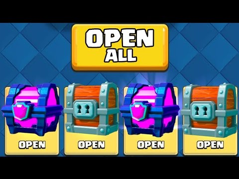 OPENING ALL MY RARE CHESTS :: Clash Royale :: DOUBLE MAGICAL AND GIANT CHEST!