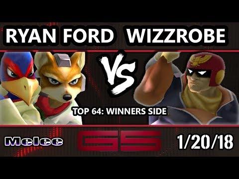 GENESIS 5 SSBM - ERG | Ryan Ford (Fox, Falco) VS Fry's | Wizzrobe (C.Falcon) - Melee Top 64 Singles