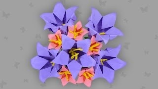 Origami Glockenblume: Bell Flower (Campanula) - Faltanleitung (Live erklärt)