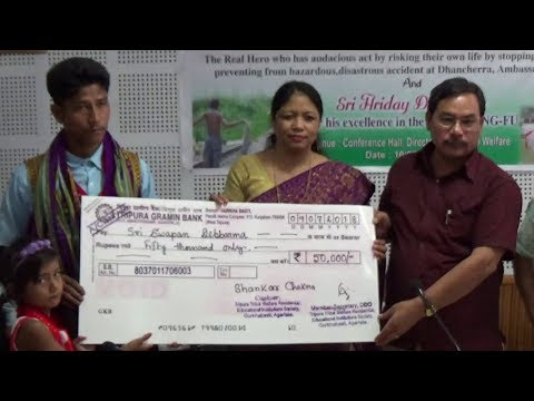 Sapan Debbarma felicitated by Tribal welfare minister of Tripura