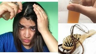 How to stop hair fall / itchy scalp overnight   One miracle natural ingredient   diy   Home remedy
