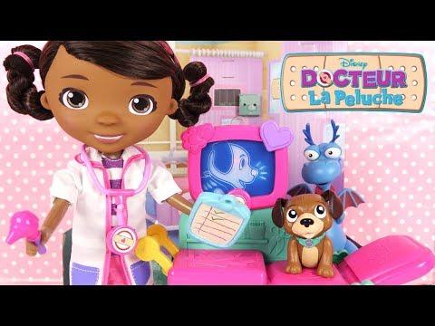 Docteur la Peluche Jouet Clinique Findo le Patient et Accessoires